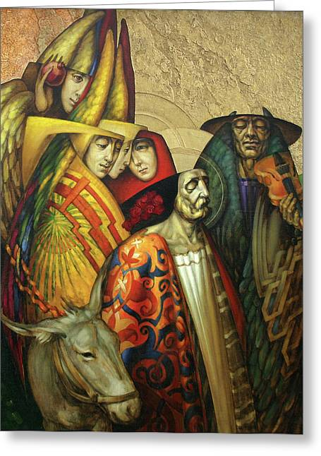 Second Lady Greeting Cards - Behold the Bridegroom comes Greeting Card by Yury Salko