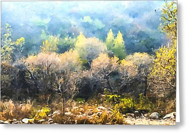 Plant Greeting Cards - Beijing Huairou Shentangyu Landscape 4 Greeting Card by Lanjee Chee