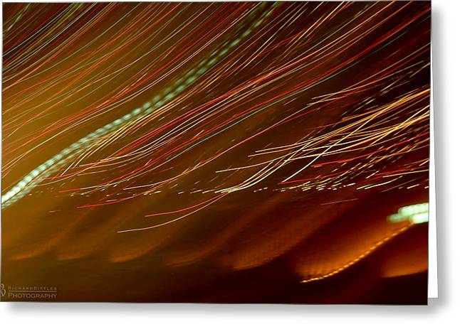 Beach Photography Greeting Cards - Beijing Lights Greeting Card by Richard Bittles