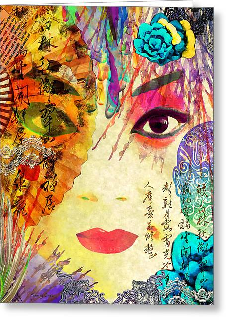 Beijing Opera Girl  Greeting Card by Stacey Chiew