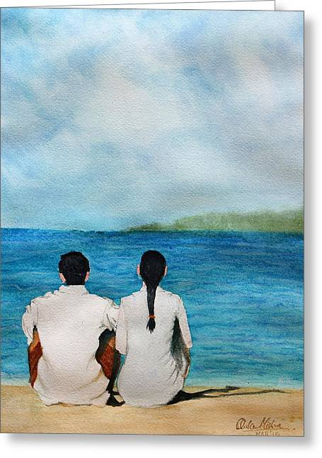 Thought Realistic Greeting Cards - Being together Greeting Card by Ankur Mishra