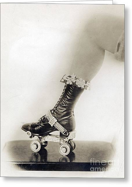 Bejeweled Roller Skate, 1920 Greeting Card by Science Source