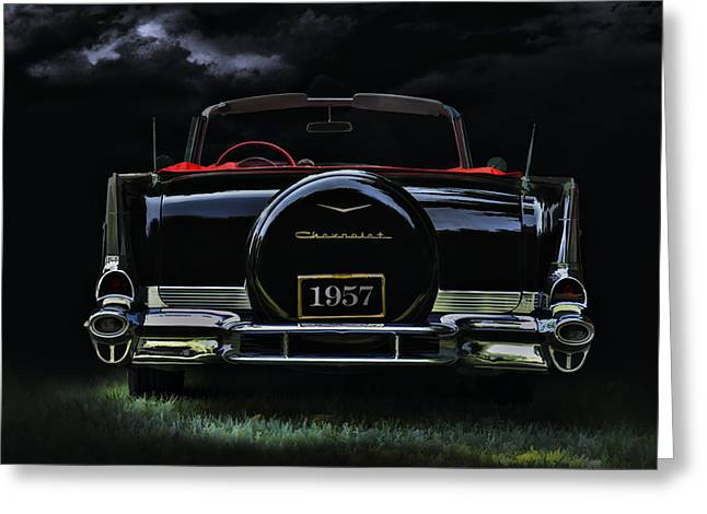 Auto Greeting Cards - Bel Air Nights Greeting Card by Douglas Pittman
