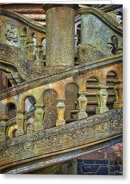 Historic Home Greeting Cards - Belfast Castle Stairs Greeting Card by Marcia Colelli