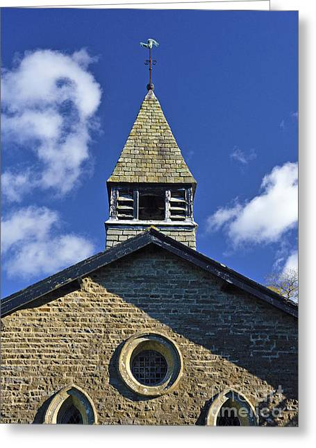Weathervane Greeting Cards - Belfry and West end. Greeting Card by Stan Pritchard