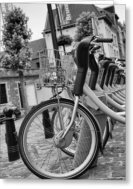 Bruxelles Greeting Cards - Belgian Bikes Greeting Card by Nomad Art And  Design