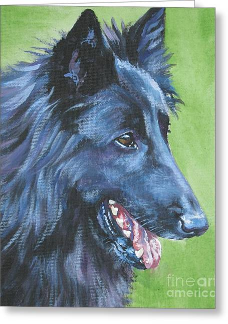 Sheepdog Greeting Cards - Belgian Sheepdog Greeting Card by L A Shepard