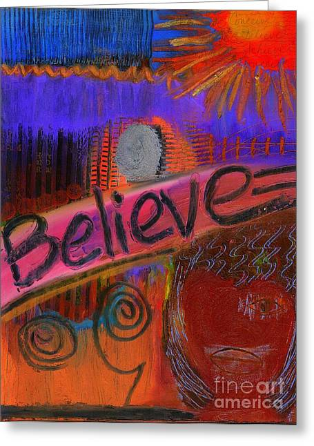 Survivor Art Greeting Cards - Believe Conceive Achieve Greeting Card by Angela L Walker
