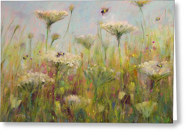 Summer Landscape Pastels Greeting Cards - Believe in Magic Greeting Card by Karen Margulis