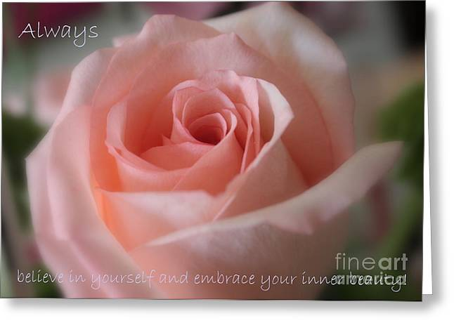 Inner Self Greeting Cards - Believe in Yourself Card or Poster Greeting Card by Carol Groenen