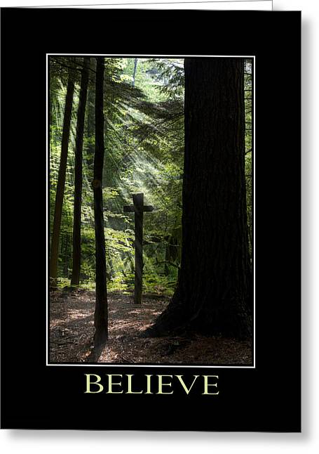 Rollo Digital Greeting Cards - Believe Inspirational Motivational Poster Art Greeting Card by Christina Rollo