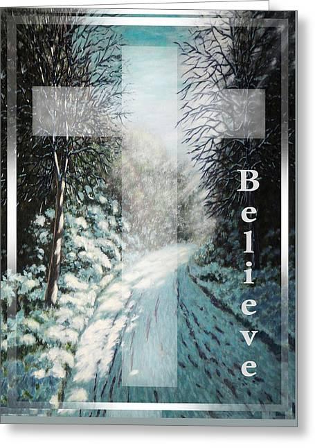 Believe Greeting Card by Saeed Hojjati