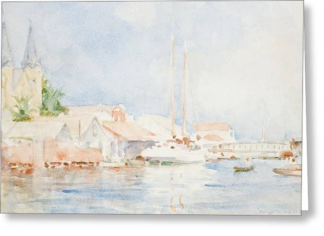 Belize Greeting Card by Henry Scott Tuke