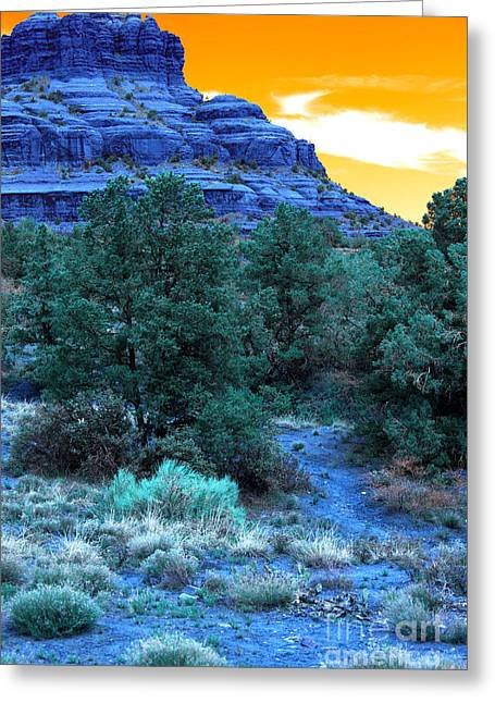 Bell Rock Greeting Cards - Bell Rock Pop Art Greeting Card by John Rizzuto