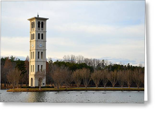 Furman Greeting Cards - Bell Tower Greeting Card by Corinne Rhode
