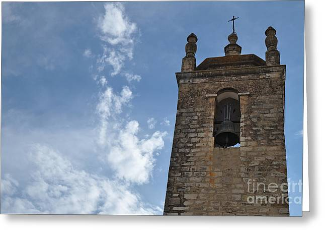 Medieval Temple Greeting Cards - Bell tower of Matriz church in Loule Greeting Card by Angelo DeVal