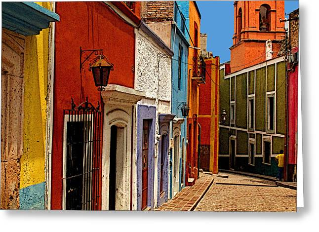 Bell Tower View Greeting Card by Olden Mexico