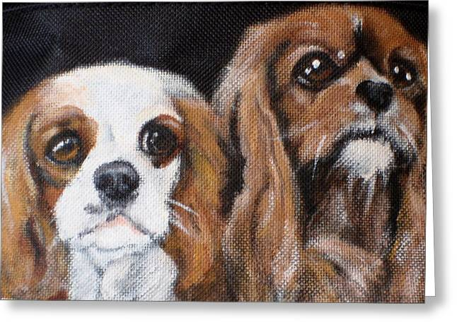 Spaniel Greeting Cards - Bella and Taylor Greeting Card by Carol Russell