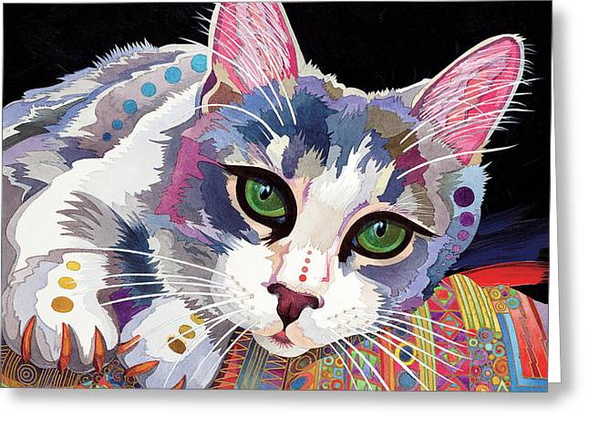 Imaginary Realism Greeting Cards - Bella Greeting Card by Bob Coonts