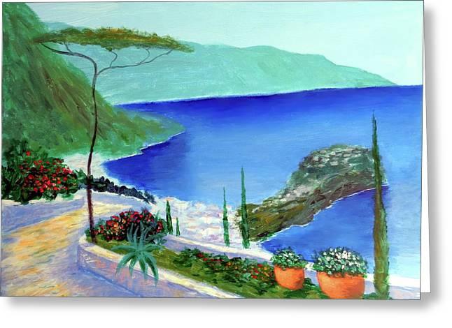 Bella Monaco  Greeting Card by Larry Cirigliano