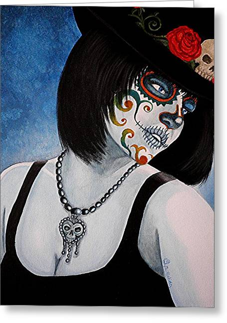 Bella Muerte Returns II Greeting Card by Al  Molina