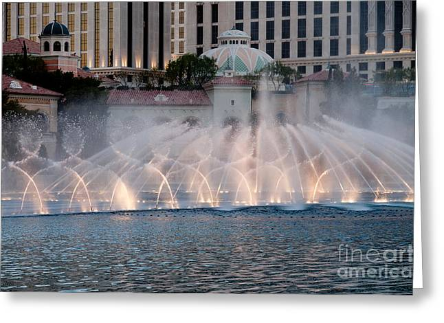 Bellagio Fountains Greeting Cards - Bellagio Fountain Patterns 1 Greeting Card by Andy Smy