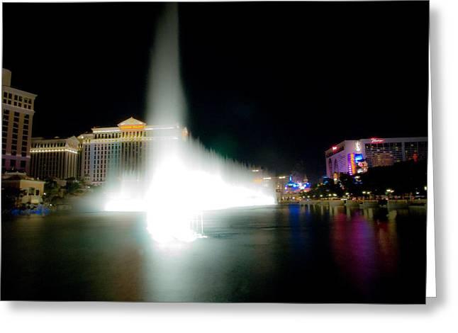 Bellagio Fountains Greeting Cards - Bellagio Fountains Greeting Card by Patrick  Flynn