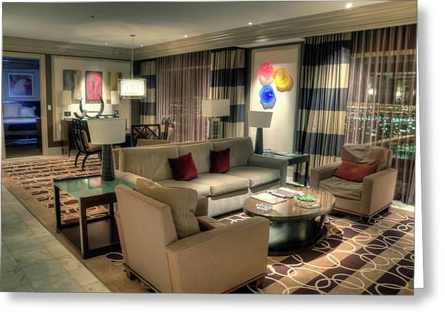 Bellagio Las Vegas Greeting Cards - Bellagio Penthouse Suite Greeting Card by Eddie Yerkish