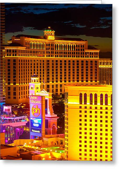 James Marvin Phelps Greeting Cards - Bellagio  Planet Hollywood  Greeting Card by James Marvin Phelps