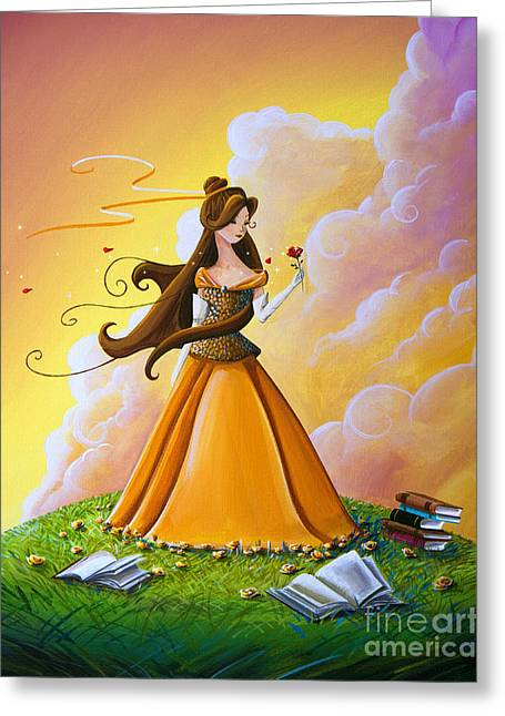 Belle Greeting Card by Cindy Thornton