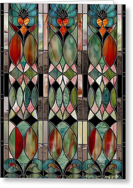 Stained Glass Greeting Cards - Belle Epoch Greeting Card by Mindy Sommers