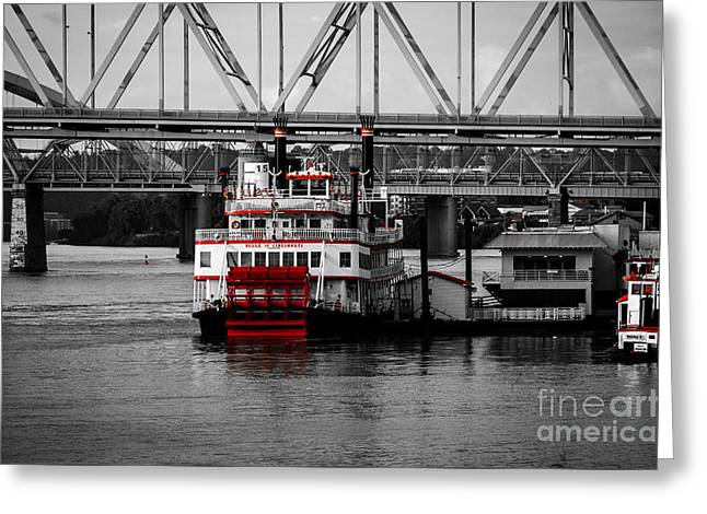 Boat Cruise Greeting Cards - Belle of Cincinnati - SC Greeting Card by Mary Carol Story
