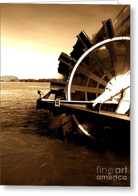 Paddle Wheel Greeting Cards - Belle of Louisville Greeting Card by Utopia Concepts