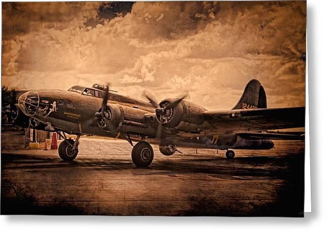Recently Sold -  - Military Airplanes Greeting Cards - Belle Of The Ball Greeting Card by Peter Chilelli