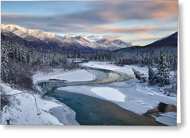 Winterscape Greeting Cards - Bellevue Greeting Card by Ed Boudreau