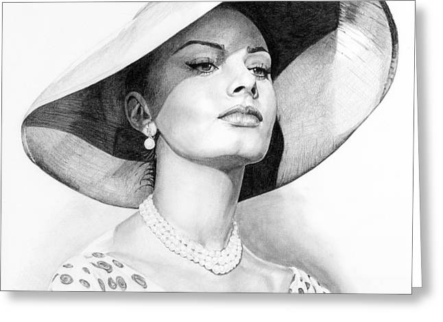 Sophia Loren Greeting Cards - Bellezza eterna Greeting Card by Rob De Vries