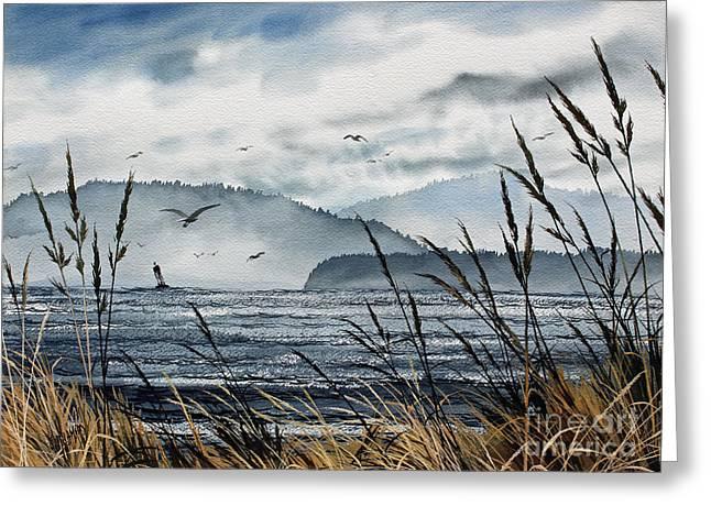 Landscape Framed Prints Greeting Cards - Bellingham Bay Greeting Card by James Williamson