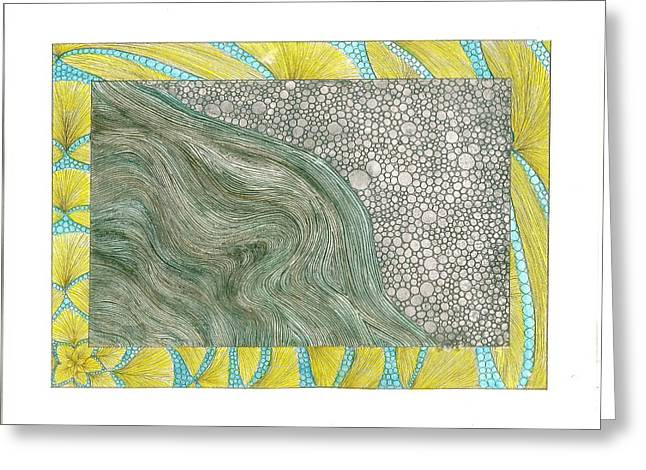Rocks Drawings Greeting Cards - Bellingham Bay Greeting Card by Michele Bullock
