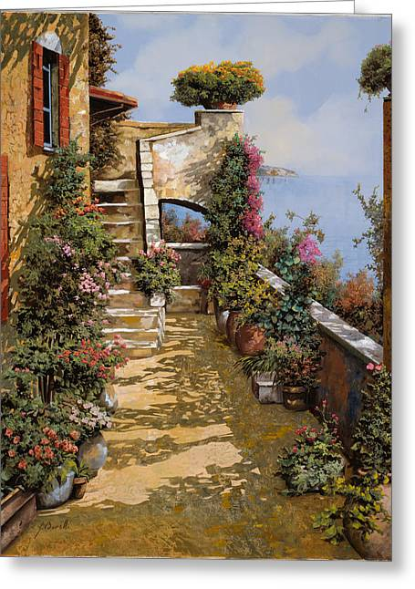 Terrace Greeting Cards - Bello Terrazzo Greeting Card by Guido Borelli