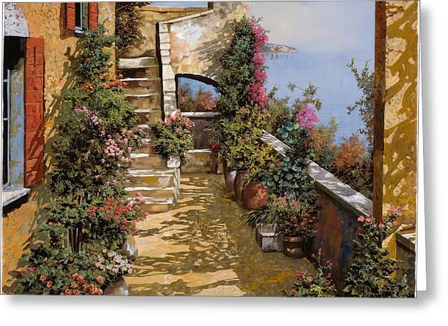 bello terrazzo Greeting Card by Guido Borelli