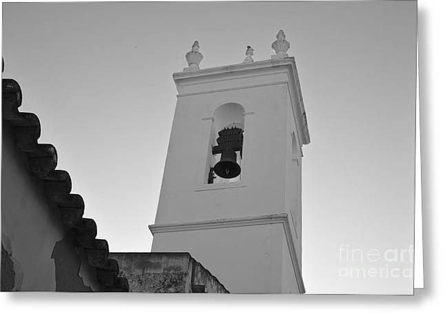 Algarve Greeting Cards - Bells tower of church of Misericordia Greeting Card by Angelo DeVal