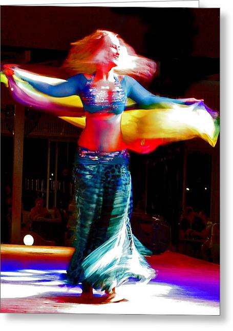 Belly Dance Greeting Card by Andy Za