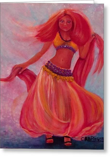 Belly Dancer Greeting Card by Carol Allen Anfinsen