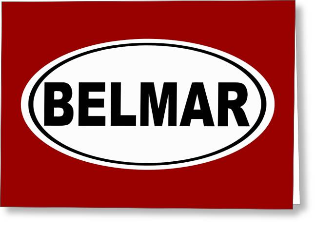 Belmar New Jersey Home Pride Greeting Card by Keith Webber Jr