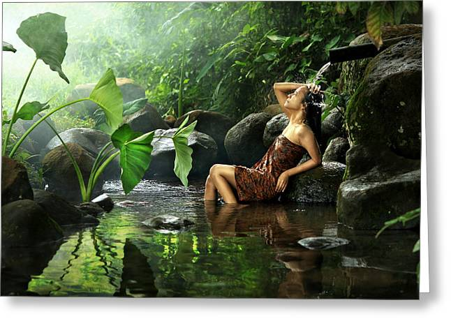 Indonesia Greeting Cards - Belova Greeting Card by Andre Arment
