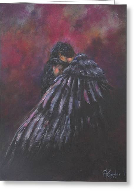Engulfing Paintings Greeting Cards - Beloved  Greeting Card by Patricia Kanzler