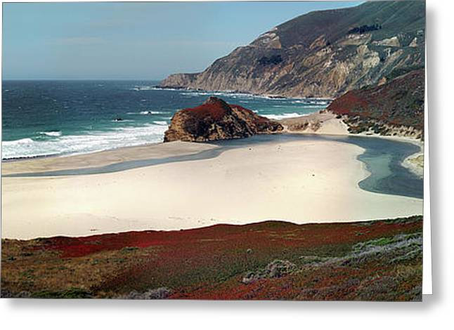 Big Sur Beach Greeting Cards - Below Big Sur Greeting Card by AJ Locklear