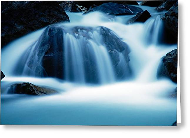 Water Flowing Greeting Cards - Below Tak Falls Greeting Card by Larry Ricker