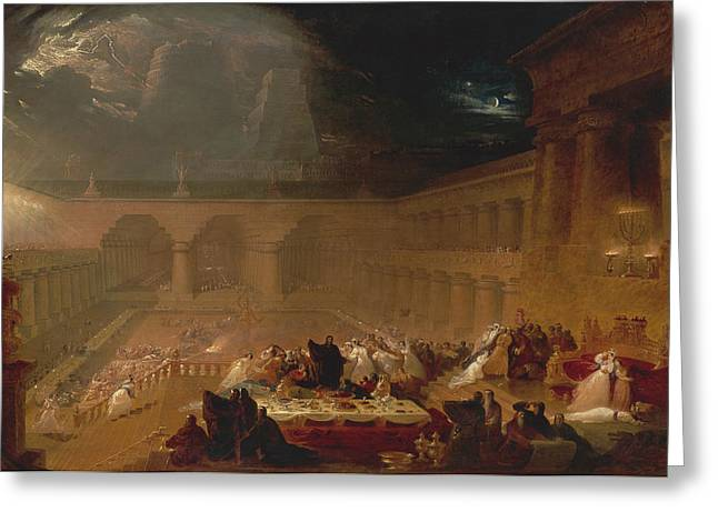 Belshazzar's Feast Greeting Card by John Martin