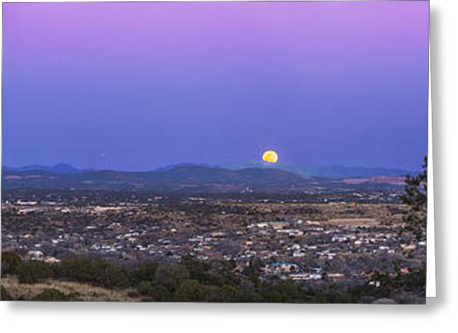 Silver City Greeting Cards - Belt Of Venus And Full Moon Rising Greeting Card by Alan Dyer